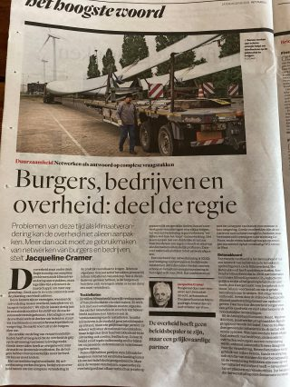 Jacqueline Cramer in het Parool | Amsterdam Economic Board